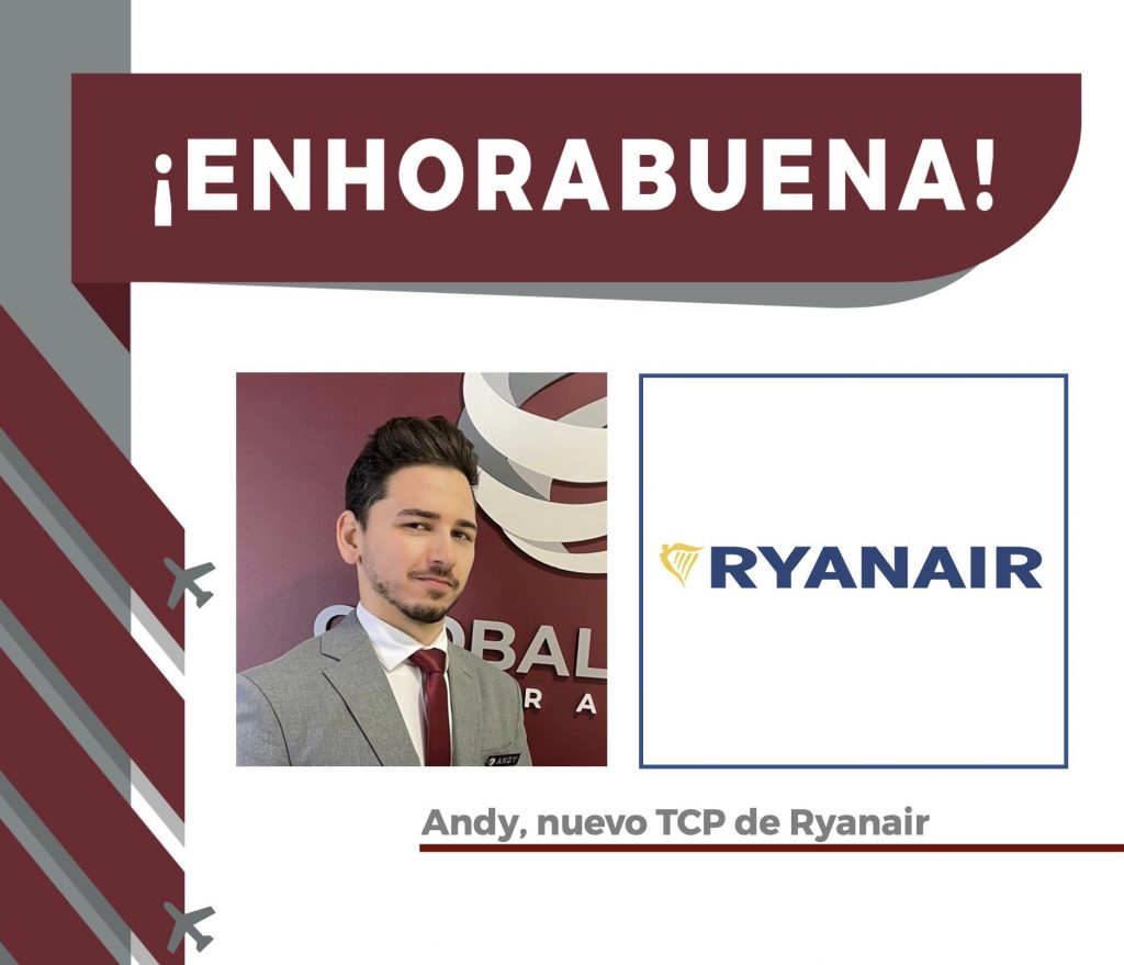 Andy, alumno y nuevo TCP en Ryanair