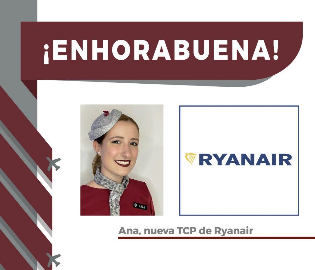 Ana, alumna recién graduada como TCP, seleccionada ya por una aerolínea!