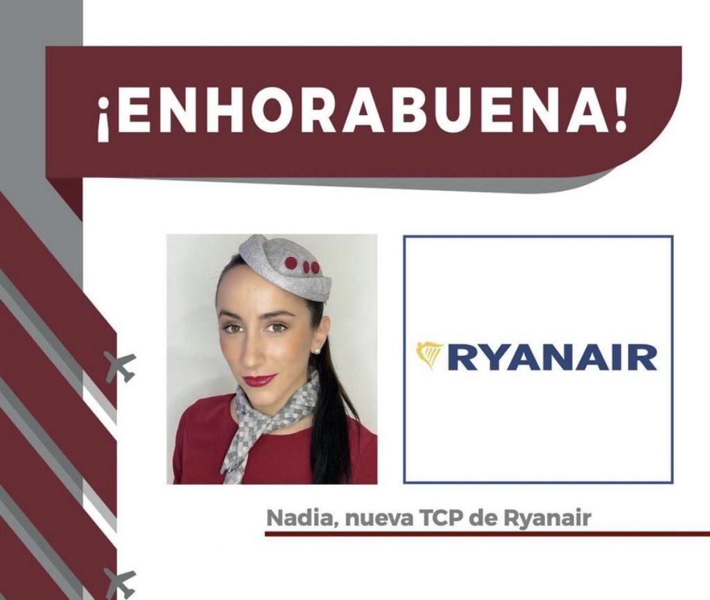 Nadia, recién graduada como TCP, seleccionada ya por una aerolínea para volar!